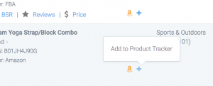 Add to product tracker