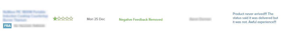 negative amazon review