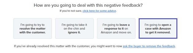 remove amazon feedback