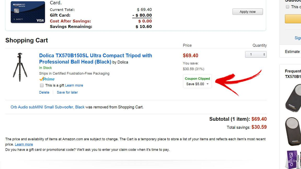 amazon discount coupon