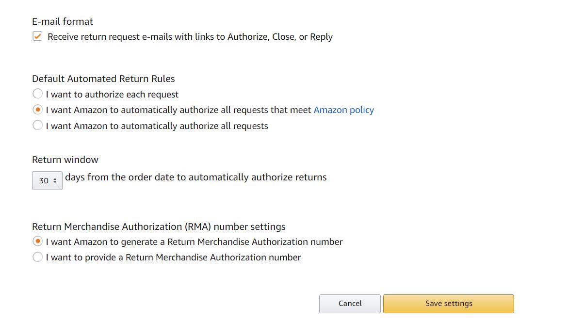 Amazon FBA Returns