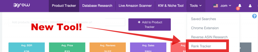 keyword tracker amazon