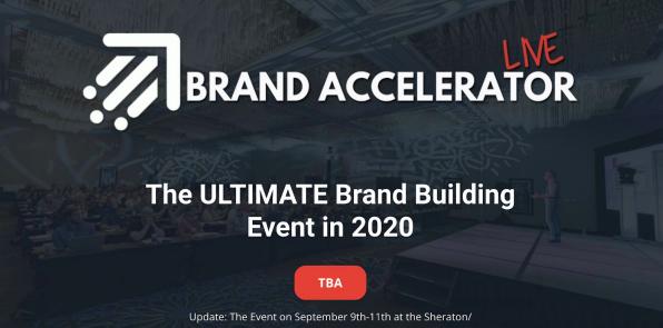 Brand Accelerator Live - Brand Building Event 2020