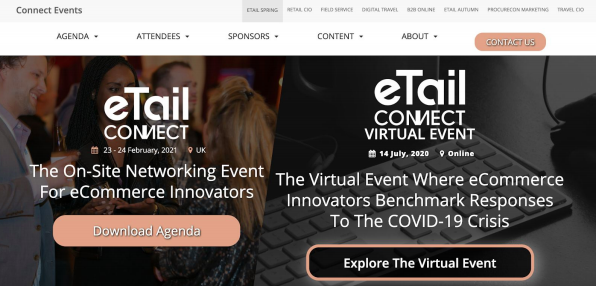 eTail Connect 2020-2021 virtual and on-site events